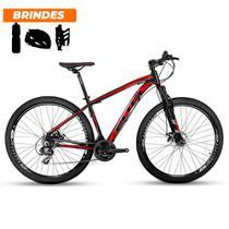 Bicicleta Aro 29 Ecos Onix 21v Freio A Disco Mecâ Pto e Verm -