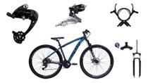 Bicicleta Aro 29 Ecos Onix 27 Marchas Câmbio Shimano, K7, Freios Hidráulicos E Suspensão Trava Ombro -