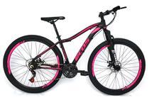 Bicicleta Aro 29 Ecos Safira Feminina 24 Marchas Câmbios Index Freio A Disco Mecanico -