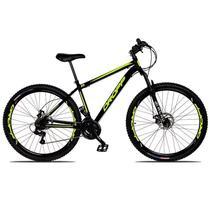 Bicicleta Aro 29 em Aço Freios Disco 21v com Suspensão Dropp -