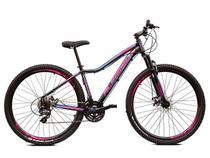 Bicicleta Aro 29 Feminina Alfameq Pandora Altus 24v e Trava -