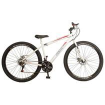 Bicicleta Aro 29 Freio à Disco 21 M. Quadro18,5 Wendy Branca/Vermelho - Ello Bike -