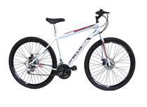 Bicicleta Aro 29 Freio à Disco 21 M Velox Branca/Vermelho - Ello Bike -