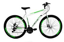 Bicicleta Aro 29 Freio a Disco 21M. Velox Branca/Vermelho - Ello Bike -