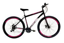 Bicicleta Aro 29 Freio a Disco 21M. Velox Preto/Pink - Ello Bike -