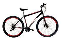 Bicicleta Aro 29 Freio a Disco 21M. Velox Preto/Vermelho - Ello Bike -
