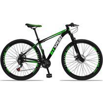 Bicicleta Aro 29 GT SPRINT Alumínio 21v Freio a Disco Preto Verde Dropp -