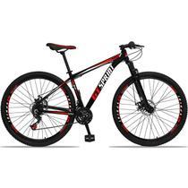 Bicicleta Aro 29 GT SPRINT Alumínio 21v Freio a Disco Preto Vermelho Dropp -