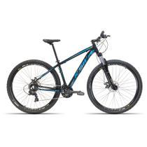Bicicleta Aro 29 KSW 24 Velocidades Freio Hidráulico Suspensão com Trava Preto com Azul 17 -