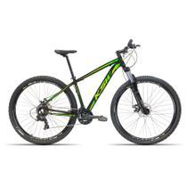 Bicicleta Aro 29 KSW 24 Velocidades Freio Hidráulico Suspensão com Trava Preto com Verde 19 -