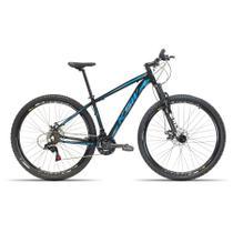 Bicicleta Aro 29 KSW 24 Velocidades Kit Shimano Freio Hidraulico Preto com Azul 17 -