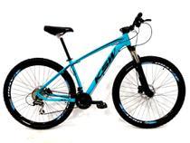 Bicicleta Aro 29 Ksw 24Vel Câmbios Shimano Freio Hidráulico Susp. Trava no Ombro -