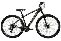 Bicicleta aro 29 Ksw Xlt 24v Alumínio Freio a Disco Garfo Suspensão Preta com Prata Tam.21 -