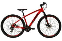 Bicicleta aro 29 Ksw Xlt 24v Alumínio Freio a Disco Garfo Suspensão Vermelho Tam.19 -
