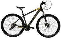 Bicicleta aro 29 Ksw Xlt 27v Câmbios Shimano Altus Freios Hidráulicos Preto/Prata/Amarelo Tam.19 - Absolute