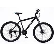Bicicleta Aro 29 Looping Aço Carbono com Amortecedor 21 marchas Preta -