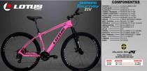 Bicicleta aro 29 lotus 21 marchas 17  freio a cabo - Shimano -