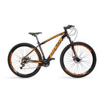 Bicicleta Aro 29 MKD King 21v Câmbios Shimano Freio a Disco Preto e Laranja Quadro 17 - Mkd Bikes