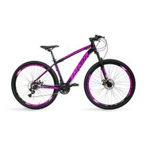 Bicicleta Aro 29 MKD King 21v Câmbios Shimano Freio a Disco Preto e Rosa Quadro 17 - Mkd Bikes