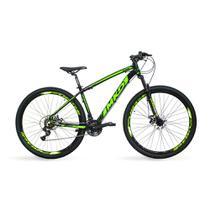 Bicicleta Aro 29 MKD King 21v Câmbios Shimano Freio a Disco Preto e Verde Quadro 17 - Mkd Bikes