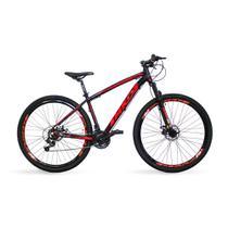 Bicicleta Aro 29 MKD King 21v Câmbios Shimano Freio a Disco Preto e Vermelho Quadro 19 - Mkd Bikes