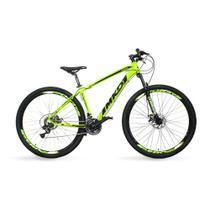 Bicicleta Aro 29 MKD King 21v Câmbios Shimano Freio a Disco Verde e Preto Quadro 17 - Mkd Bikes