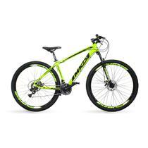 Bicicleta Aro 29 MKD King 21v Câmbios Shimano Freio a Disco Verde e Preto Quadro 19 - Mkd Bikes