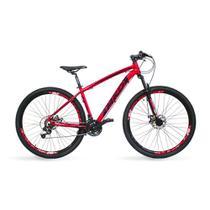Bicicleta Aro 29 MKD King 21v Câmbios Shimano Freio a Disco Vermelho e Preto Quadro 17 - Mkd Bikes