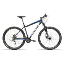 Bicicleta Aro 29 Monaco  24v Cambios Shimano Preto com Azul 19 -