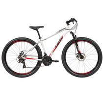 Bicicleta Aro 29  Mtb Caloi Vulcan 21V Câmbio Shimano Branca Tamanho do Quadro 17 M -