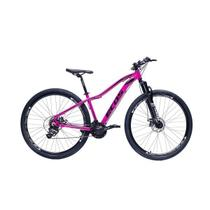 Bicicleta Aro 29 Mtb Feminina Ecos Safira 24 Marchas Câmbios Index Freio A Disco -