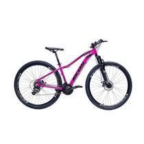 Bicicleta Aro 29 Mtb Feminina Ecos Safira 24 Marchas Câmbios Shimano Freio A Disco -
