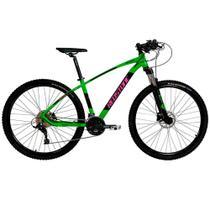 Bicicleta Aro 29 Mtb Redstone Aquila Alumínio 27v Verde -