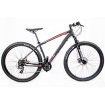 "Bicicleta Aro 29 Mtb Redstone Nitro 24V Preto Rosa 17"" Shima -"