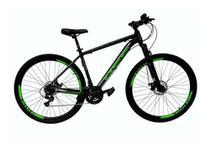 Bicicleta Aro 29 Off Alumínio Disco Suspensão Preto/Verde Quadro 17 - Ello Bike