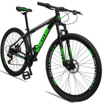 Bicicleta Aro 29 Quadro 15 Alumínio 21 Marchas Freio a Disco Orion Preto Verde - Spaceline -