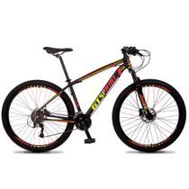 Bicicleta Aro 29 Quadro 15 Alumínio 27v Freio Hidráulico Volcon Preto/Amarelo/Vermelho - GT Sprint - Dropp