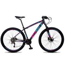 Bicicleta Aro 29 Quadro 15 Alumínio 27v Freio Hidráulico Volcon Preto/Rosa/Azul - GT Sprint - Dropp