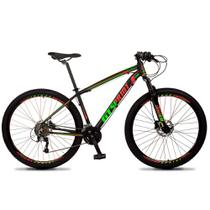 Bicicleta Aro 29 Quadro 15 Alumínio 27v Freio Hidráulico Volcon Preto/Vermelho/Verde - GT Sprint - Dropp