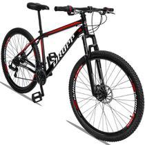 Bicicleta Aro 29 Quadro 17 Aço 21 Marchas Suspensão Freio a Disco Mecânico Preto Red - Dropp -