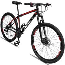 Bicicleta Aro 29 Quadro 17 Aço Suspensão Freio a Disco Mecânico 21 Marchas - Dropp -