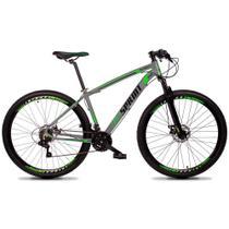 Bicicleta Aro 29 Quadro 17 Alumínio 21v Câmbio Tras. Shimano Freio Mecânico Volcon Cinza - GT Sprint -