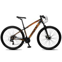Bicicleta Aro 29 Quadro 17 Alumínio 24v Suspensão Trava Freio Hidráulico Z4-X Preto/Laranja - Dropp -
