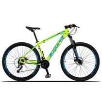 Bicicleta Aro 29 Quadro 17 Alumínio 27 Marchas Freio Disco Hidráulico Z3-X Amarelo/Azul - Dropp -