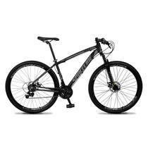 Bicicleta Aro 29 Quadro 17 Câmbio Tras. Shimano 21v Freio Mecânico Vega Preto/Cinza - Spaceline -