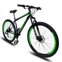 Bicicleta Aro 29 Quadro 19 Aço Suspensão Freio a Disco Mecânico 21 Marchas - Dropp -
