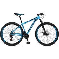 Bicicleta Aro 29 Quadro 19 Alumínio 21 Marchas Freio a Disco Mecânico Azul/Preto - Dropp -