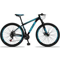 Bicicleta Aro 29 Quadro 19 Alumínio 21v com Suspensão e Freio Disco Orion Preto/Azul - Spaceline -