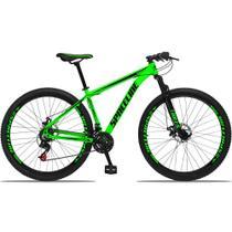Bicicleta Aro 29 Quadro 19 Alumínio 21v com Suspensão e Freio Disco Orion Verde/Preto - Spaceline -