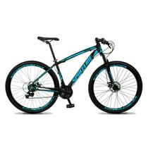 Bicicleta Aro 29 Quadro 19 Câmbio Tras. Shimano 21v Freio Mecânico Vega Preto/Azul - Spaceline -